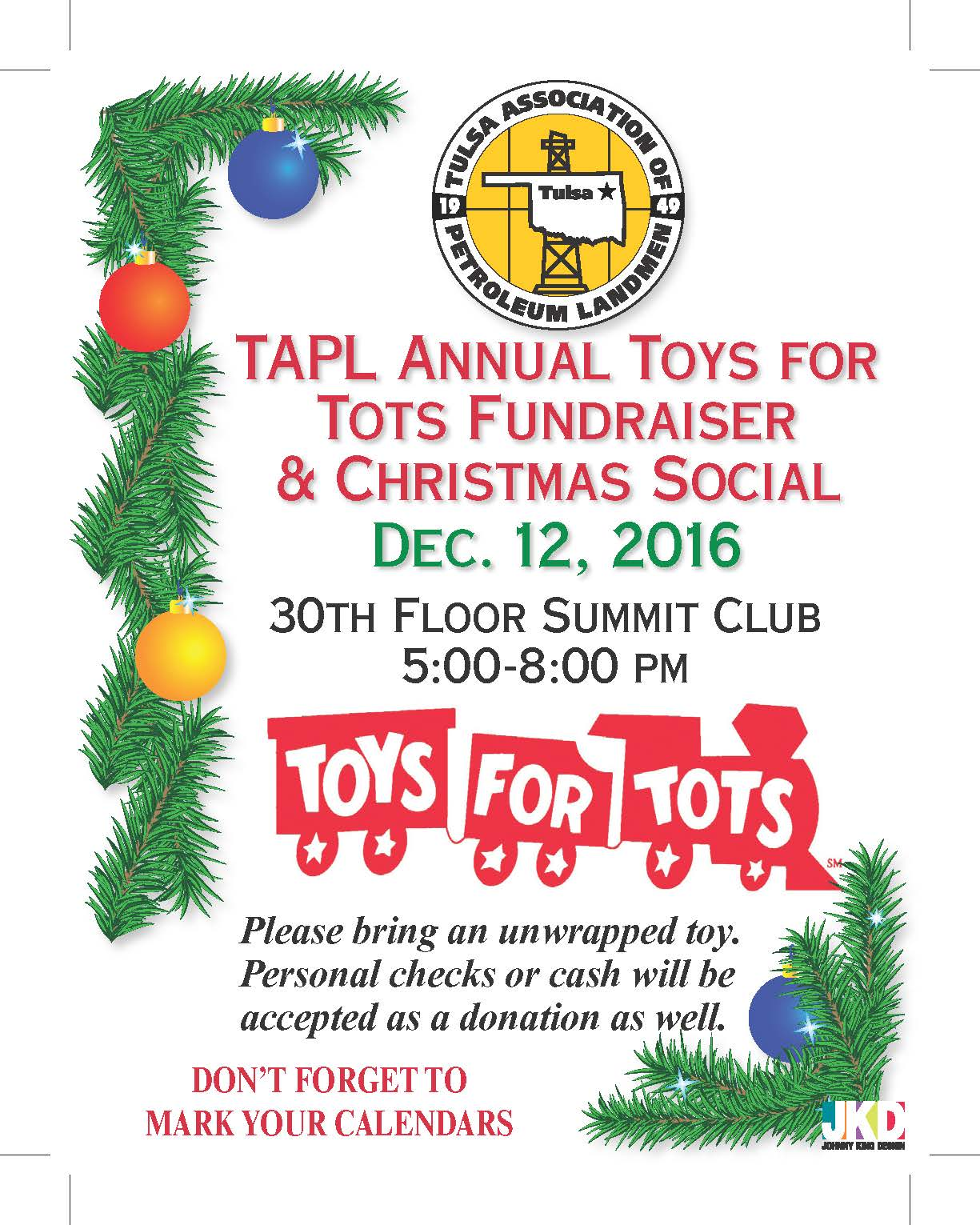 Toys for Tots Christmas Social
